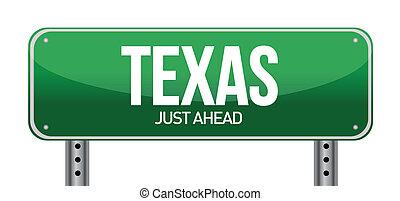 texas, wegaanduiding