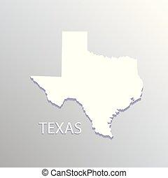 Texas white map