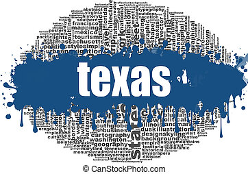 Texas word cloud design