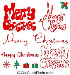 text., クリスマス, 陽気