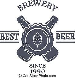 text., 型, ビール, 紋章, 場所