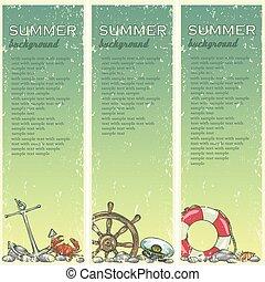 text., 夏, サンプル, 浜, 背景