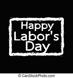 text 1st May Happy Labor Day Illustration design