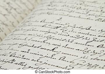 text, altes , handgeschrieben
