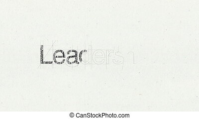 Text animation 'Leadership'