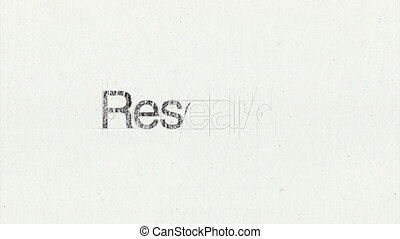 Text animation 'Research'