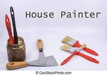 (text, bâtiment, graphique, ressource, english), maison, matériel, vente, peinture, plan, peintre