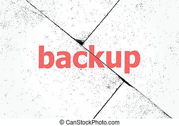 Text Backup. Web design concept . Closeup of rough textured grunge background