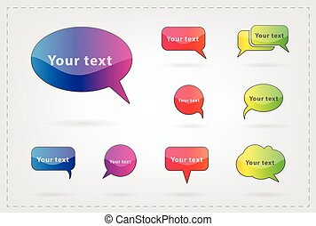 text balloon Vector speech bubble i