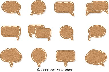 text balloon Vector speech bubble icons
