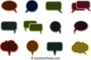 text balloon Vector speech bubble icons on vintage style