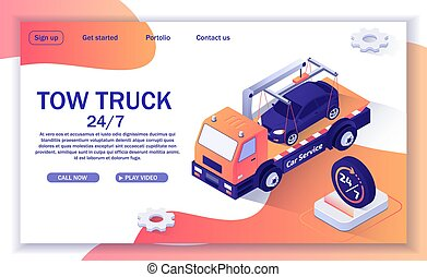 Text Banner with Offer of Tow Truck Assistance - Landing ...