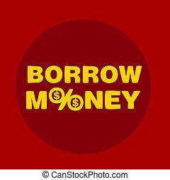 text borrow money