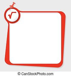 text box with pushpin and radix symbol