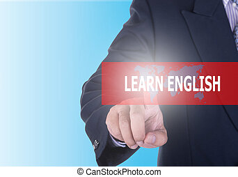 Text button Learn English