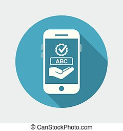 Text check application on smartphone