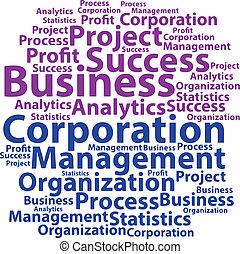 Text cloud. Business wordcloud. Tag concept. Vector illustration