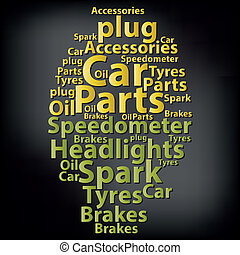 Text cloud. Car wordcloud. Tag concept. Vector illustration.