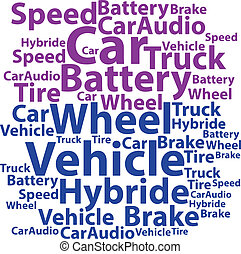Text cloud. Car wordcloud. Tag concept. Vector illustration.