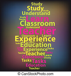 Text cloud. Education wordcloud. Tag concept. Vector illustratio