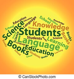 Text cloud. Education wordcloud. Tag concept. Vector illustration.