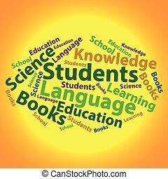 Text cloud. Education wordcloud. Tag concept. Vector illustration.