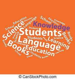 Text cloud. Education wordcloud. Typography concept. Vector ...