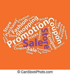 Text cloud. Sale wordcloud. Tag concept. Vector illustration.