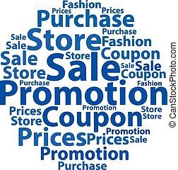 Text cloud. Sale wordcloud. Tag concept. Vector illustration.