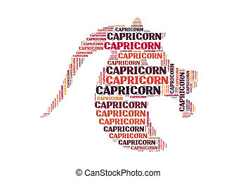 Text cloud: symbol of capricorn