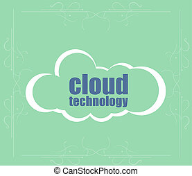 Text cloud technology. It concept . Word cloud. Successful idea for business