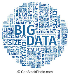 Text Composition Word Cloud Big Data  Illustration .
