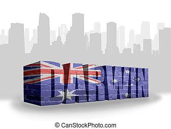 text, darwin, mit, nationales kennzeichen, von, australia