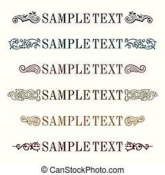 Text decoration elements