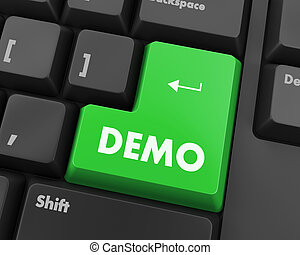 demo - Text demo button 3d render