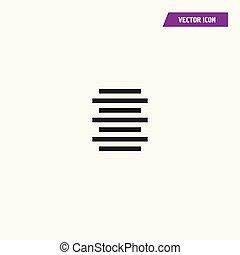 Text document center alignment icon.