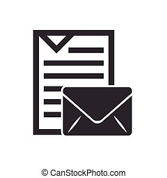 text document file isolated icon