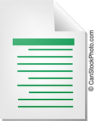 Text writing document file type illustration clipart