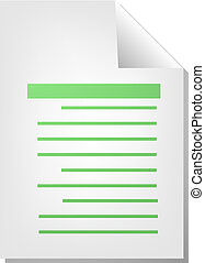 Text document icon - Text writing document file type ...