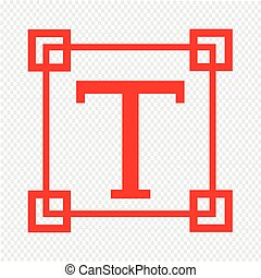 Text edit sign icon Illustration design