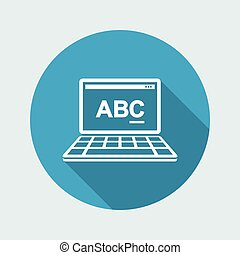 Text editor software icon