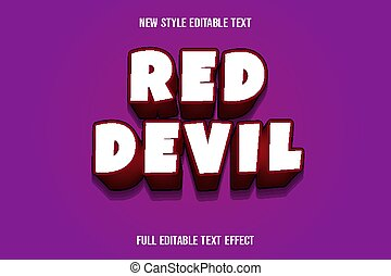.text effect 3d red devil color white and red gradient