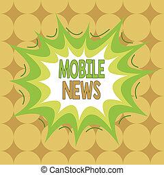 text, enheter, format, multicolour, asymmetriska, mobil, begrepp, objekt, ojämn, affär, news., format, användande, skrift, nyheterna, ord, skissera, design., mönster, leverans, skapelse