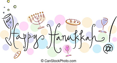Happy Hanukkah - Text Featuring the Words Happy Hanukkah