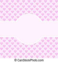 Text field edged with white hearts - Large text field edged...