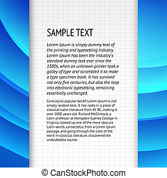 Text field over blue banner for your text. Vector...