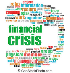 Text financial crisis. Business concept . Word cloud collage