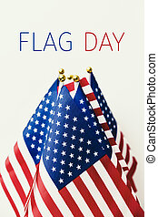 text flag day and american flag