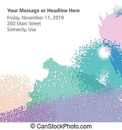 text., fond, coloré, espace