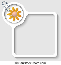 text frame for any text with flover and paper clip